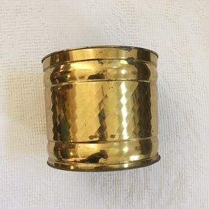Other - Vintage brass planter